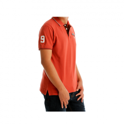 Antioni Polo Evergreen Men Polo Tee Short Sleeve (MD ORANGE)