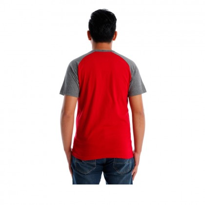 UBAY VIBE MEN ROUND NECK TEE SHORT SLEEVE (DK RED )