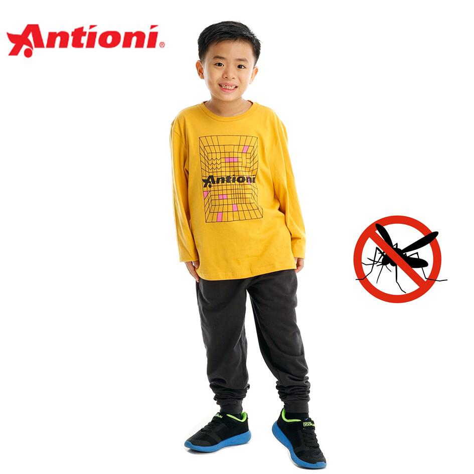 Antioni Children Anti-Mosquito Round Neck Tee, Long Sleeve (Yellow)